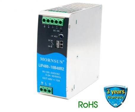 LIF480 R2 Series   480 Watt   PFC AC-DC Power   EN/UL62368 Approved