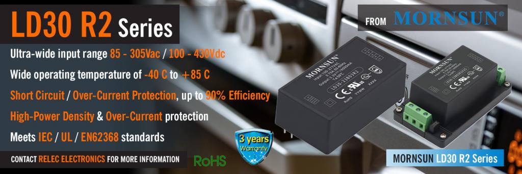 LD30 R2 Series Banner | 30 Watt | Ultra Compact & High Density | Mornsun Power