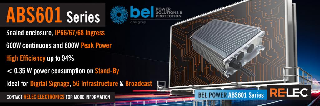 ABS601 Series Product Banner | 600 Watt | Built-In PFC & Rugged Design | Bel Power UK
